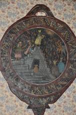Perù, raffigurazione su legno di sacrificio Inca