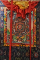 Thangka tibetana, pittore Tashi per il Lama Tzelin
