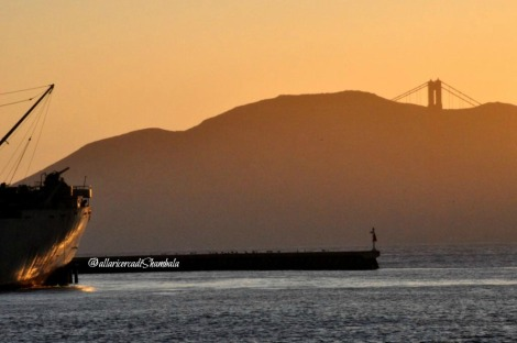 baia di San Francisco sunset