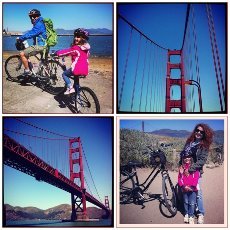 Collage Bike riding