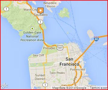 Mappa Sausalito-San Francisco